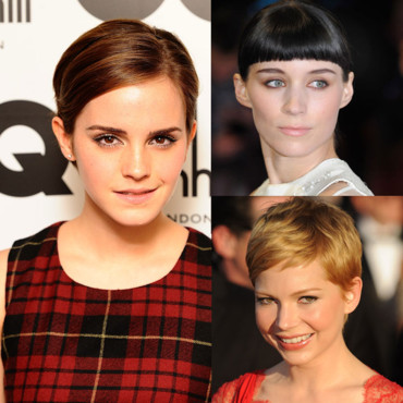 Coupes courtes Emma Watson Michelle Williams Rooney Mara