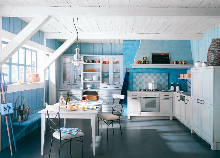 cuisine bleu turquoise peinture with cuisine bleu. Black Bedroom Furniture Sets. Home Design Ideas