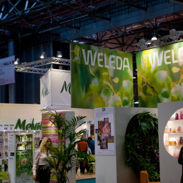 Salon de la beauté Beyond Beauty : stands Weleda et Melvita