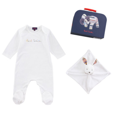 Le kit pyjama + doudou+ valise chez Paul Smith Junior