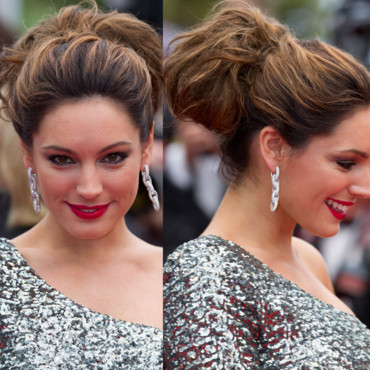 Kelly Brook chignon Cannes 2012