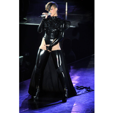 Rihanna en concert en mode Matrix