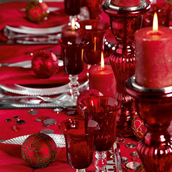 D co de table toutes les bougies de no l ambiance d co de table no l sia d co - Table de noel rouge ...