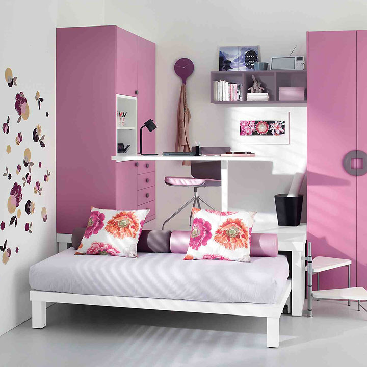 deco chambre de jeune fille. Black Bedroom Furniture Sets. Home Design Ideas