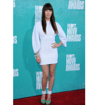 Jessica Biel en Chanel aux MTV Movie Awards 2012