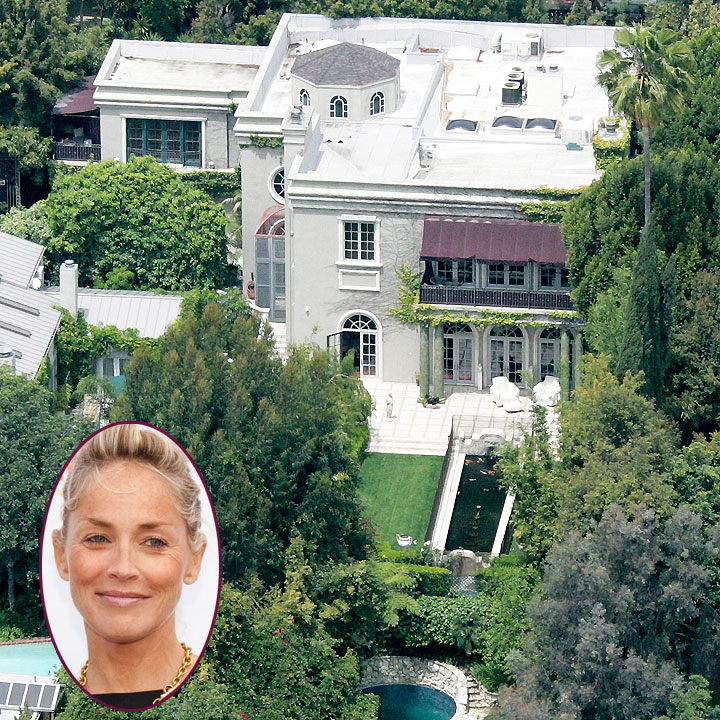 vues du ciel les plus belles maisons de stars hollywood la maison de sharon stone. Black Bedroom Furniture Sets. Home Design Ideas