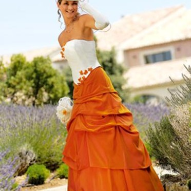 robe orange Point Mariage, solène. noéline de point mariage. Album aufeminin.com