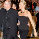 Charlene Wittstock en look rock'n'roll au concert des Eagles