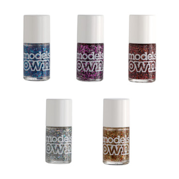 Vernis pailletés collection Fireworks Models Own, en excluvisité chez Monoprix, à 5,99 euros