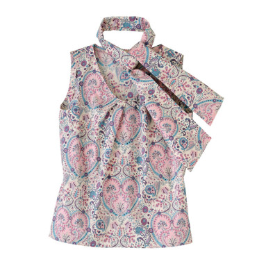 Top en liberty rose Bernard Zins coton 138 €