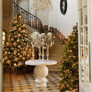 Déco de sapin de Noël blanc et or de Sia Home Fashion