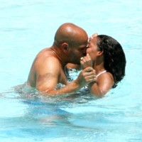 Photo : le baiser de Melanie Brown et son mari