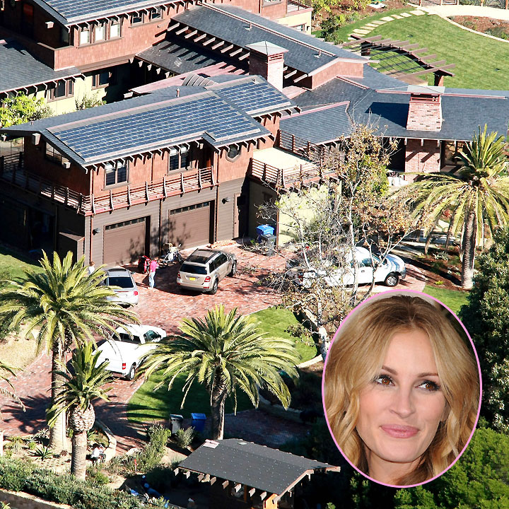 vues du ciel les plus belles maisons de stars malibu la maison de julia roberts malibu. Black Bedroom Furniture Sets. Home Design Ideas