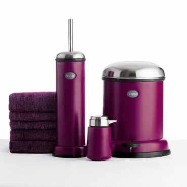 poubelles purple cut serie limitee chez vipp courrier decoration