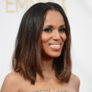 Kerry Washington et son smoky eye lors des Emmy Awards le 25 août 2014