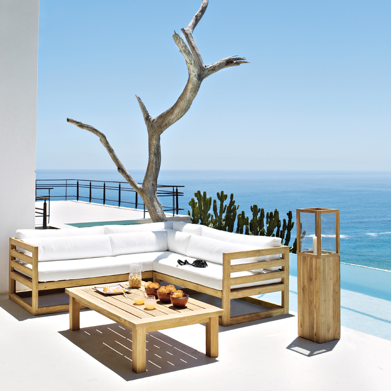 maisons du monde 32 ambiances outdoor d couvrir salon cyclades maisons du monde d co. Black Bedroom Furniture Sets. Home Design Ideas