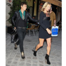 Kate Moss et Jamie Hince à Paris pour le défilé Saint Laurent Paris