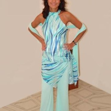 Tenue cocktail turquoise - Sublims - Copyright © <DR>