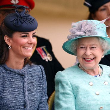 Kate Middleton et Elizabeth II le 12 juin 2012