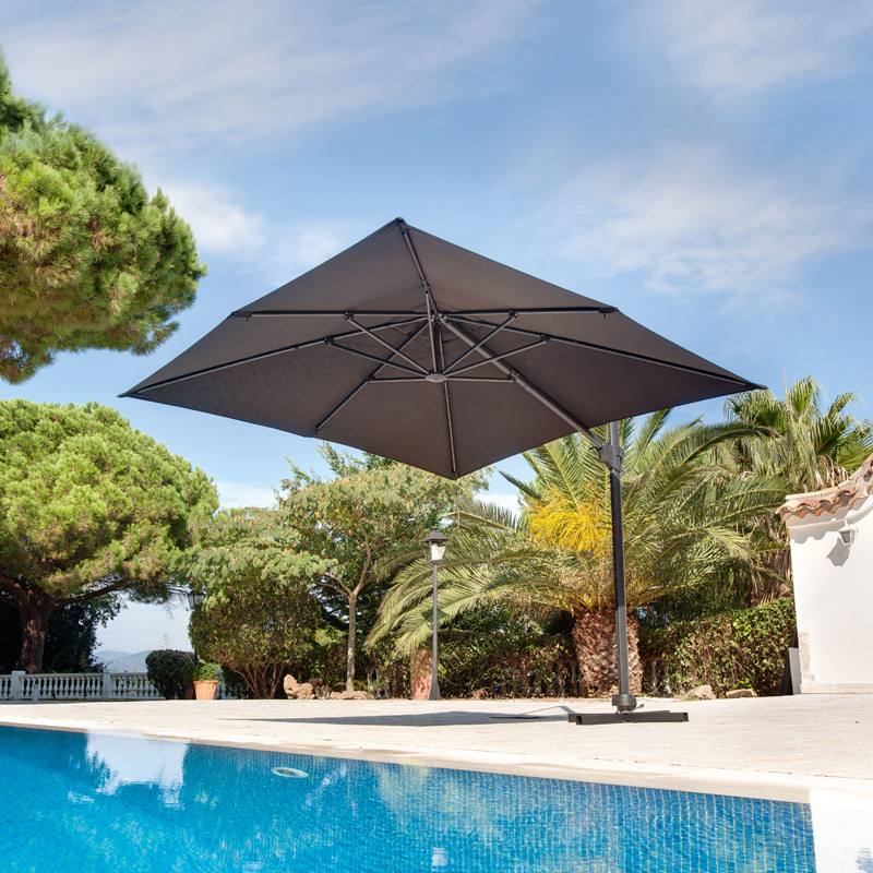 d co t 20 parasols tout nouveaux partir de 24 99 parasol d centr carr 360. Black Bedroom Furniture Sets. Home Design Ideas