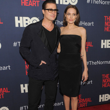 Angelina Jolie et Brad Pitt à l'avant-première de The Normal Heart à New York, le 12 mai 2014