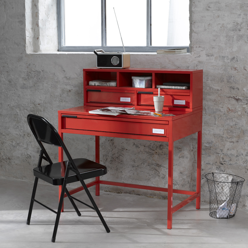 d co printemps t 2012 nos coups de coeur chez la redoute bureau rouge la redoute d co. Black Bedroom Furniture Sets. Home Design Ideas