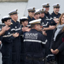 Laury Thilleman et la marine nationale