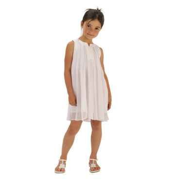 Robe blanche petites filles