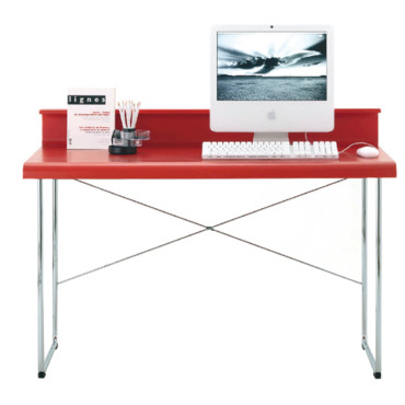 Bureau fly bureau rouge zak objet d co d co for Petit bureau simple