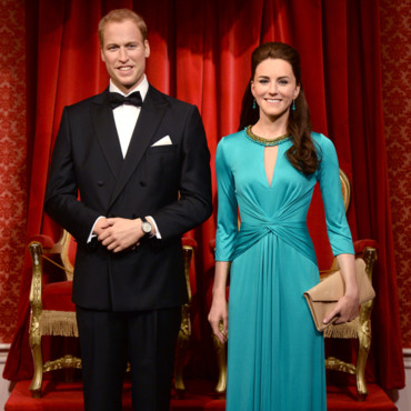 Les statues de cire de Kate Middleton et du prince William au musée Madame Tussauds de Londres le 2 juillet 2014