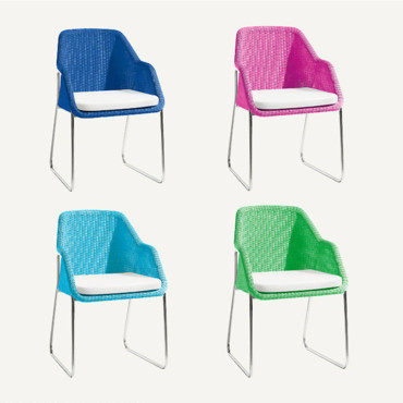 Chaises Quadricolor Mood par Manutti
