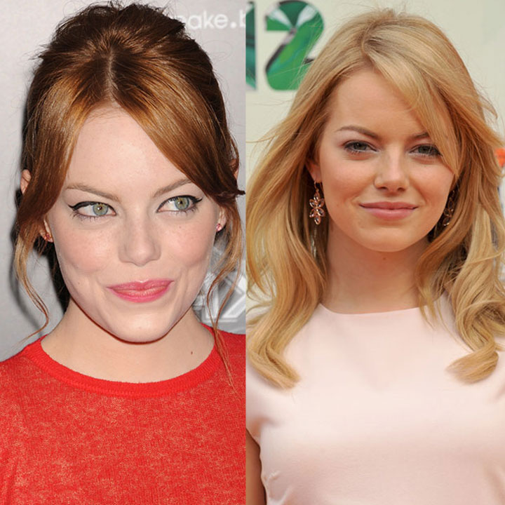 Emma Stone rousse blonde coloration