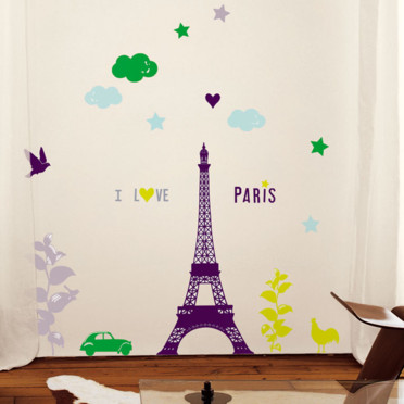 Stickers Nouvelles Images Paris - Déco :  interior design stickers style decor