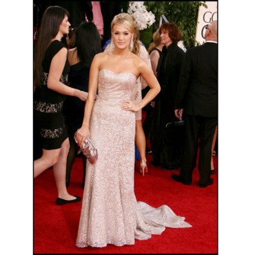 Carrie Underwood en Badgley Mischka