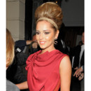 Cheryl Cole chignon façon Amy Winehouse Soho House septembre 2011 Londres