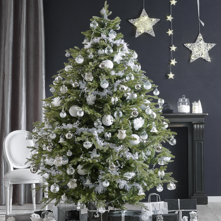Decoration sapin de noel chic for Decoration sapin de noel americain