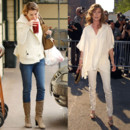 Ellen Pompeo top flop casual Vs tenue pantalon blanc