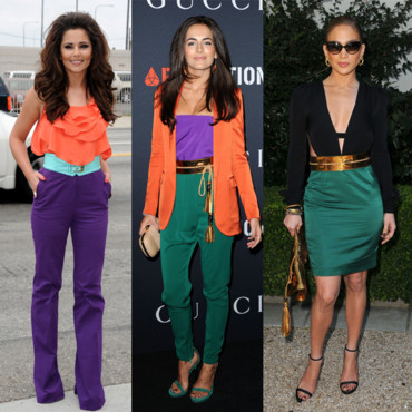 Les stars en color block