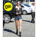 Nicky Hilton en shearling