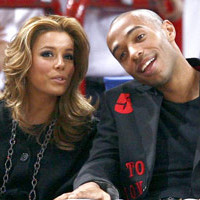 Photo : Eva Longoria, Thierry Henry