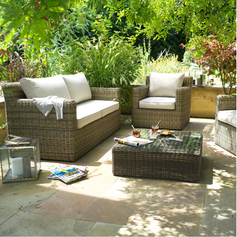 Salon jardin aluminium castorama cool salon de jardin - Salon de jardin en rotin collection loa ...