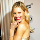 Karolina Kurkova : son brushing souple  la soire Montblanc