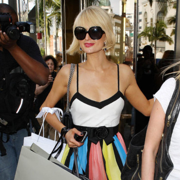 Paris Hilton en shopping chez Dior