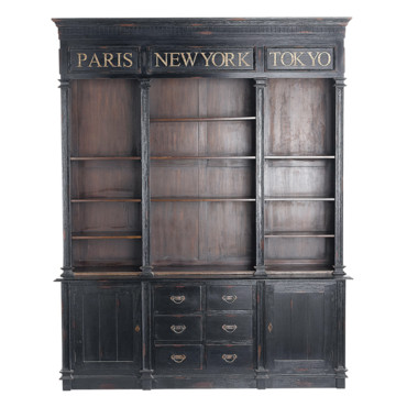 60 meubles et objets d co de secret story o les acheter biblioth que haussmann maisons. Black Bedroom Furniture Sets. Home Design Ideas