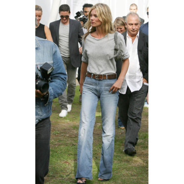 Kate moss en jean au Parc Holland