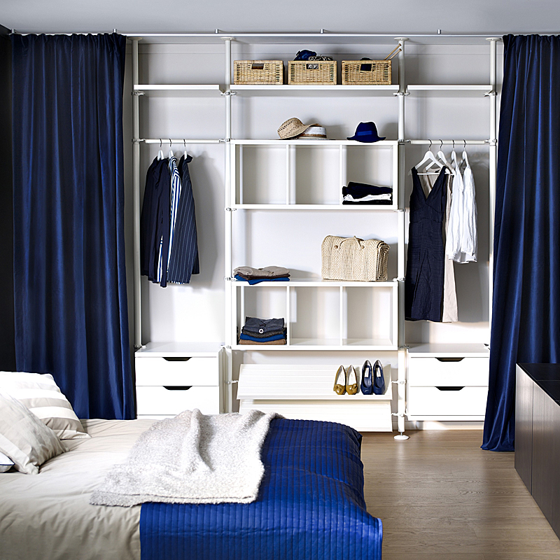 dressing ikea armoires meubles et astuces pour organiser son rangement structure stolmen. Black Bedroom Furniture Sets. Home Design Ideas