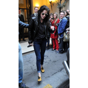 TOP Kristen Stewart à Paris version rock
