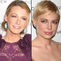 Blake Lively, Michelle Williams et leur coiffure de gala