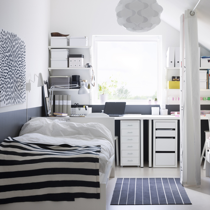 ikea chambres adultes coup de coeur dco un intrieur scandinave monochrome with ikea chambres. Black Bedroom Furniture Sets. Home Design Ideas