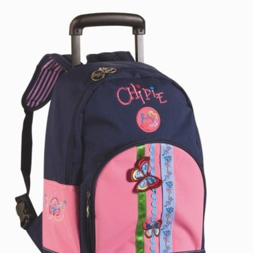 Le cartable sac à dos à roulettes Chipie